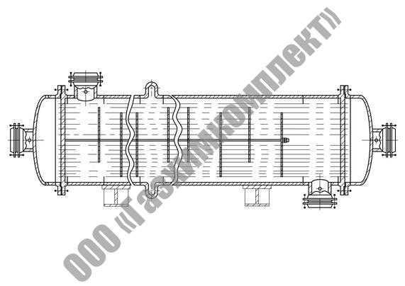 Аппараты теплообменные кожухотрубчатые с неподвижными трубными решетками и кожухотрубчатые с температурным компенсатором на кожухе