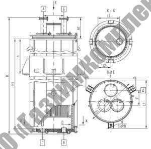 Аппараты теплообменные кожухотрубчатые тип тфк (исполнение 2)